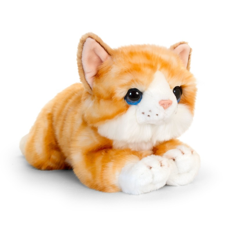 Keel Toys pluche rood/witte kat/poes knuffel 32 cm