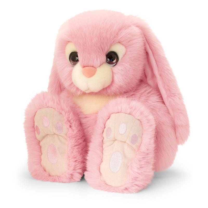 Keel Toys pluche roze konijnen knuffel 25 cm