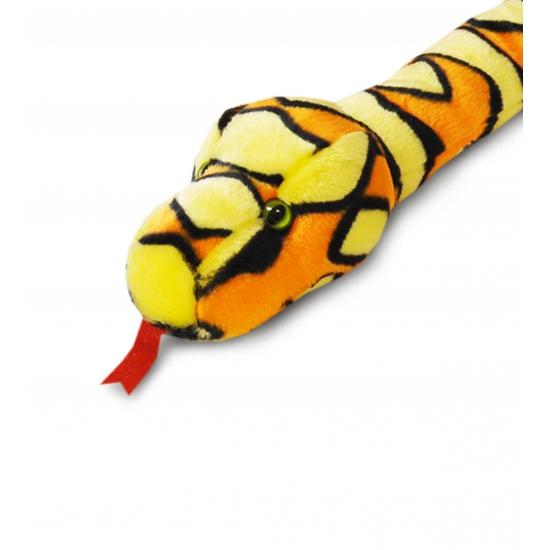 Keel Toys pluche slang knuffel oranje 200 cm