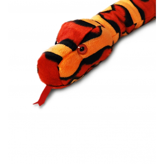 Keel Toys pluche slang knuffel rood 200 cm