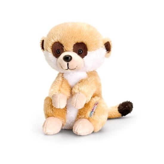 Keel Toys pluche stokstaart knuffel zittend 14 cm