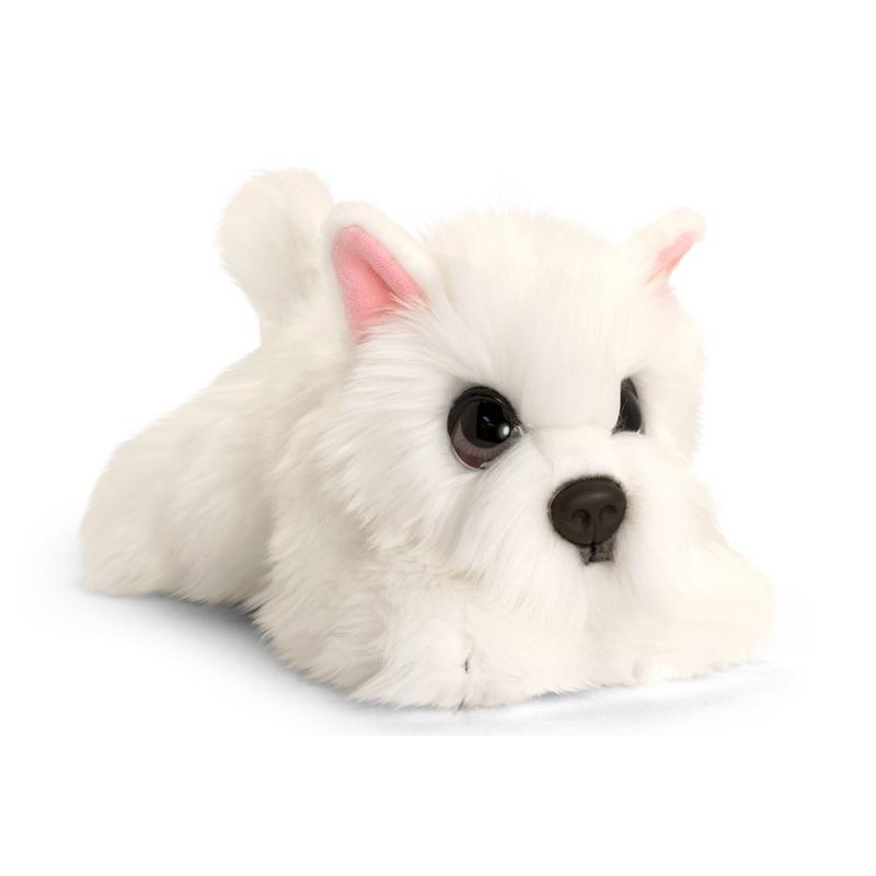 Keel Toys pluche witte Westie honden knuffel 37 cm