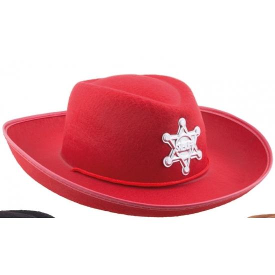 Kinder cowboyhoed rood Geen voordeligste prijs