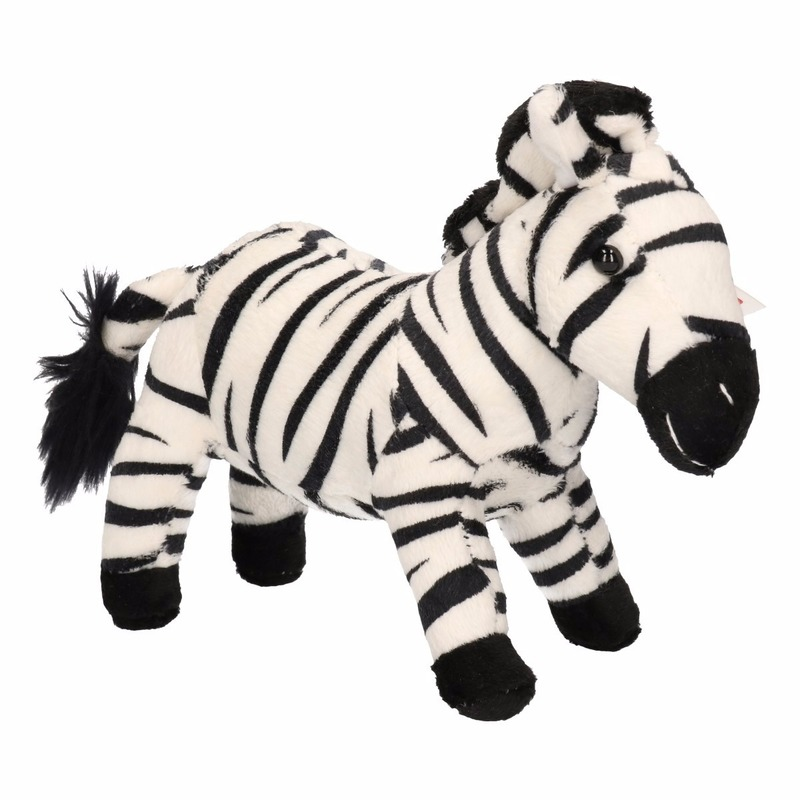 Kinder knuffel zebra 18 cm
