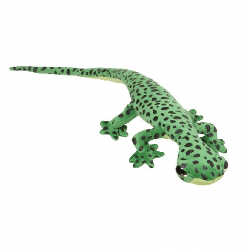 Kinder pluche knuffel groene gekko 62 cm