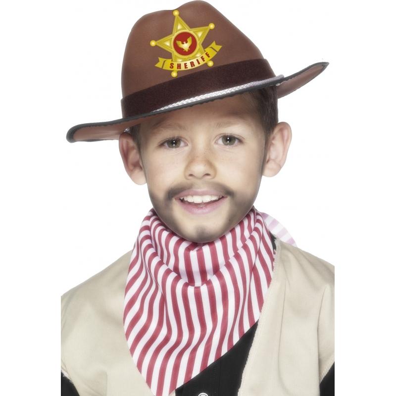 Geen Kinder Wilde Westen hoed bruin Feest hoeden