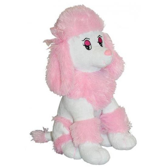 Kinderknuffel poedels roze 35 cm