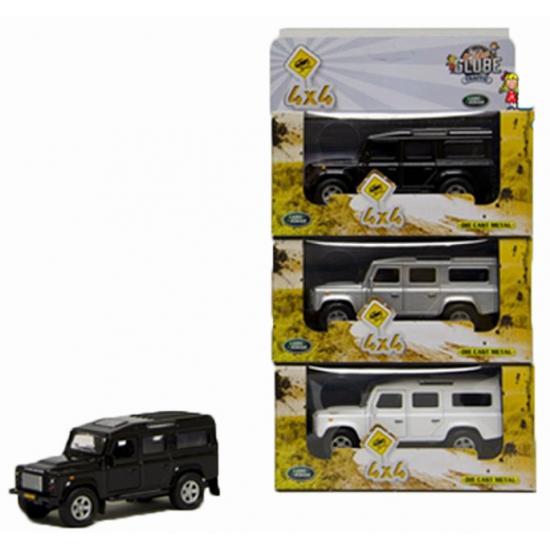 Speelgoedvoertuigen Geen Kinderspeelgoed auto Land Rover wit 20 cm