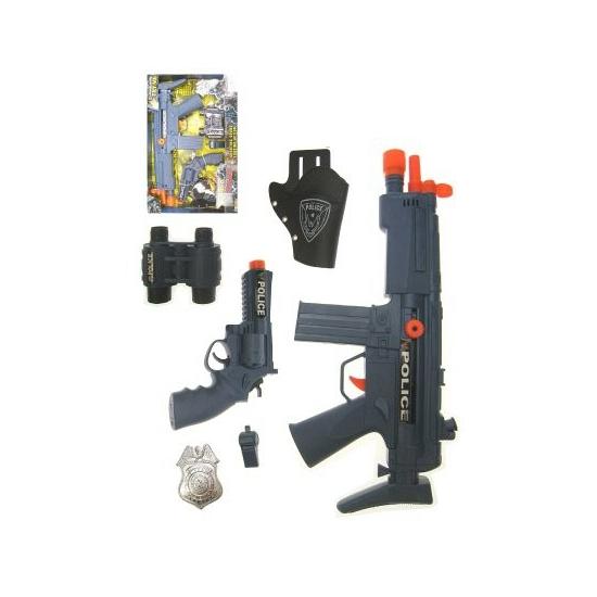 Speelgoed diversen Kinderspeelgoed politie pistolen set