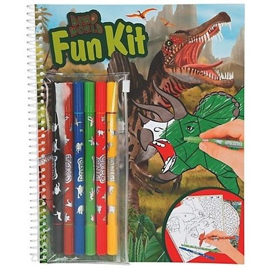 Creatief speelgoed Depesche Kleurboek dinosaurus met stiften