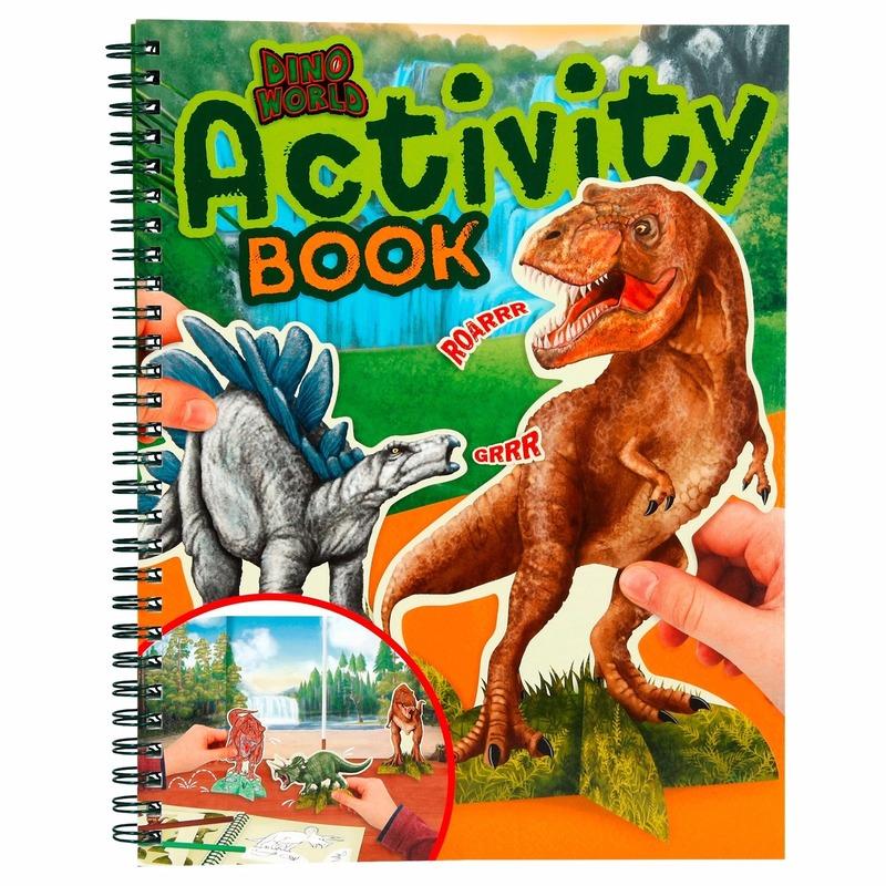 Kleurboek Dinosaurussen Dino World Creatief speelgoed