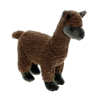 Knuffel alpaca bruine 23 cm