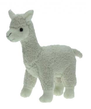 Knuffel alpaca wit 23 cm