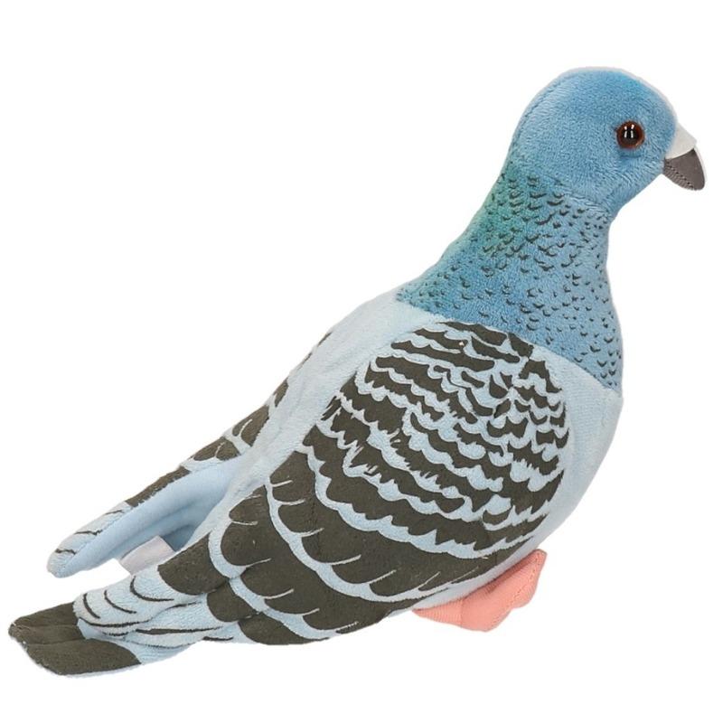 Knuffel blauwe duiven 24 cm