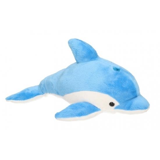 Knuffel dolfijn blauw 33 cm