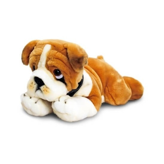 Knuffel hond bulldog 35 cm