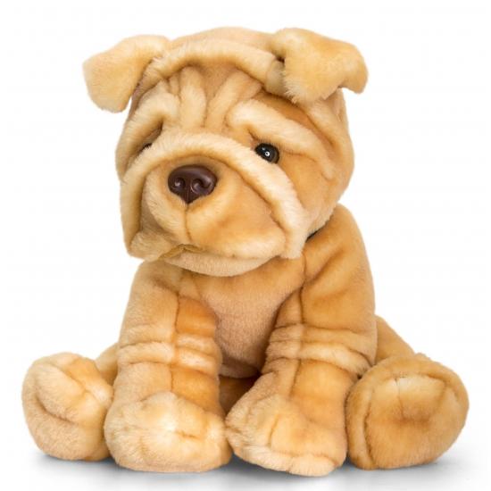 Knuffel hond Sharpei 35 cm
