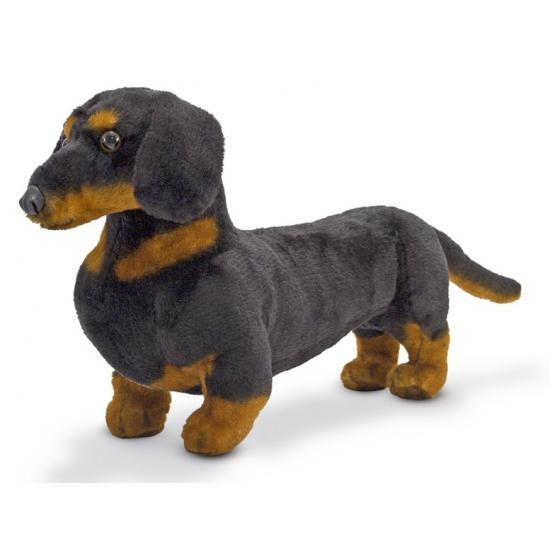 Knuffel hondje Dashond Teckel 40 cm