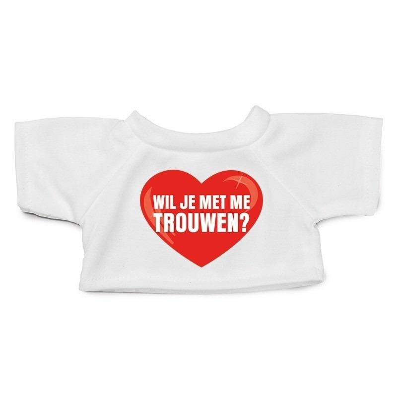 Knuffel kleding wil je trouwen shirt XL voor Clothies knuffel