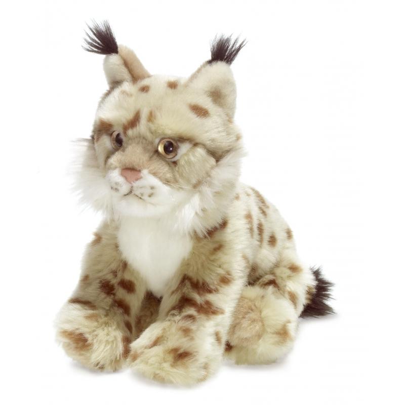 Knuffel lynx wit 23 cm