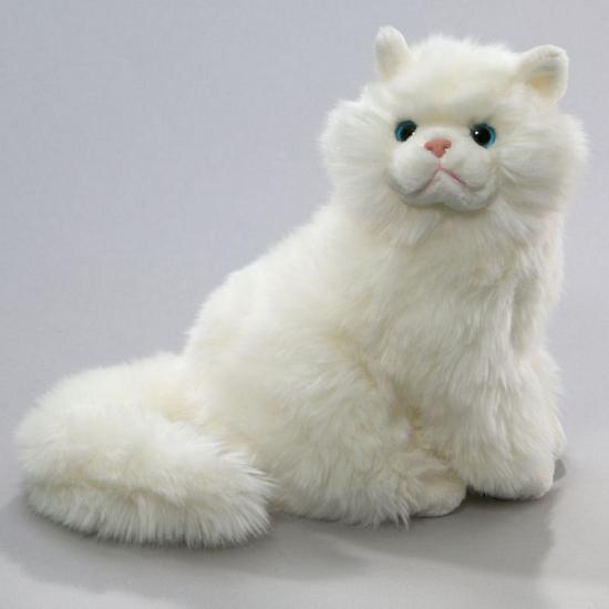 Knuffel poes Perzisch wit van 30 cm