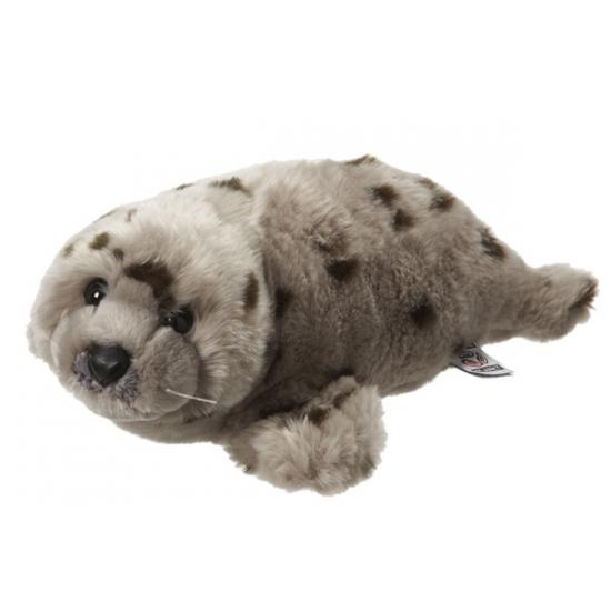 Knuffel zeehond grijs met stippen 40 cm
