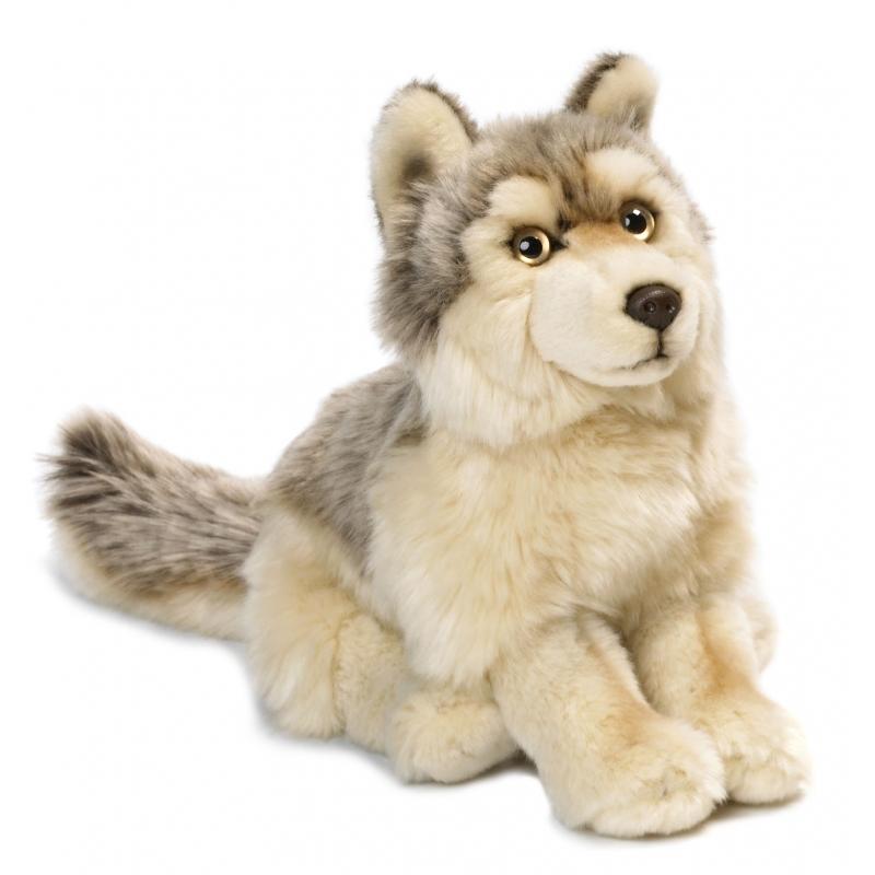 Knuffelbeest wolf 25 cm
