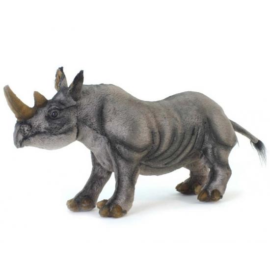 Knuffeldier neushoorn zwart 46 cm