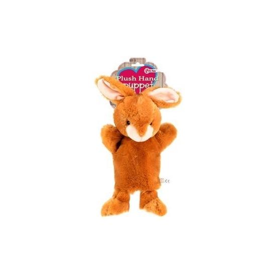 Knuffeldier pluche handpop konijn 21 cm