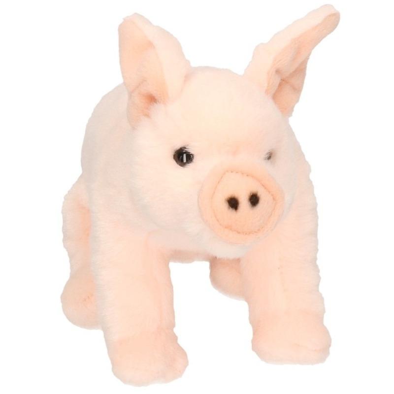 Knuffeltje roze varken 22 cm