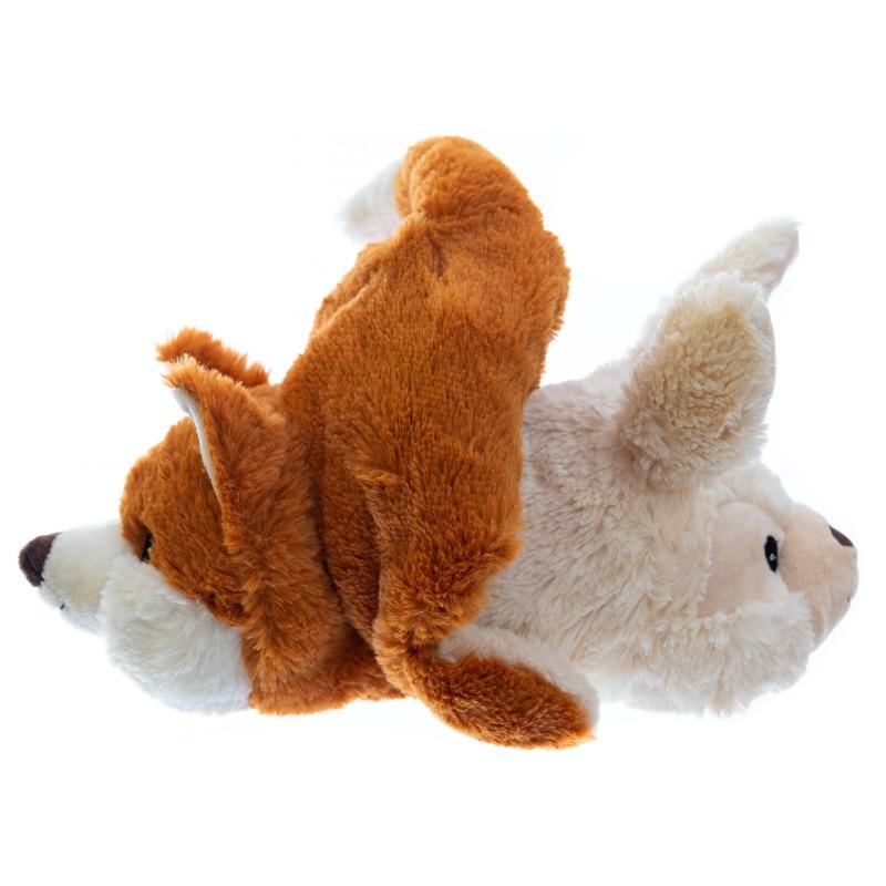 Konijn/vossen knuffel kruik geboorteknuffel 23 cm