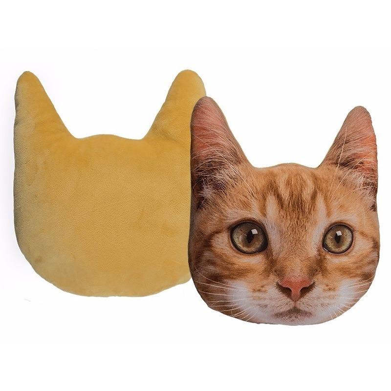 Kussen poes/kat rood 30 cm