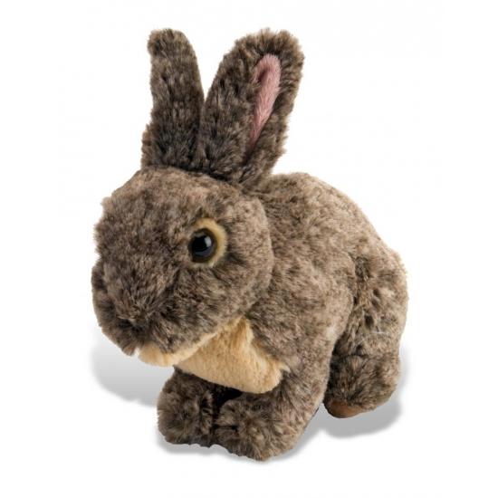 Lichtbruin pluche konijn 30 cm
