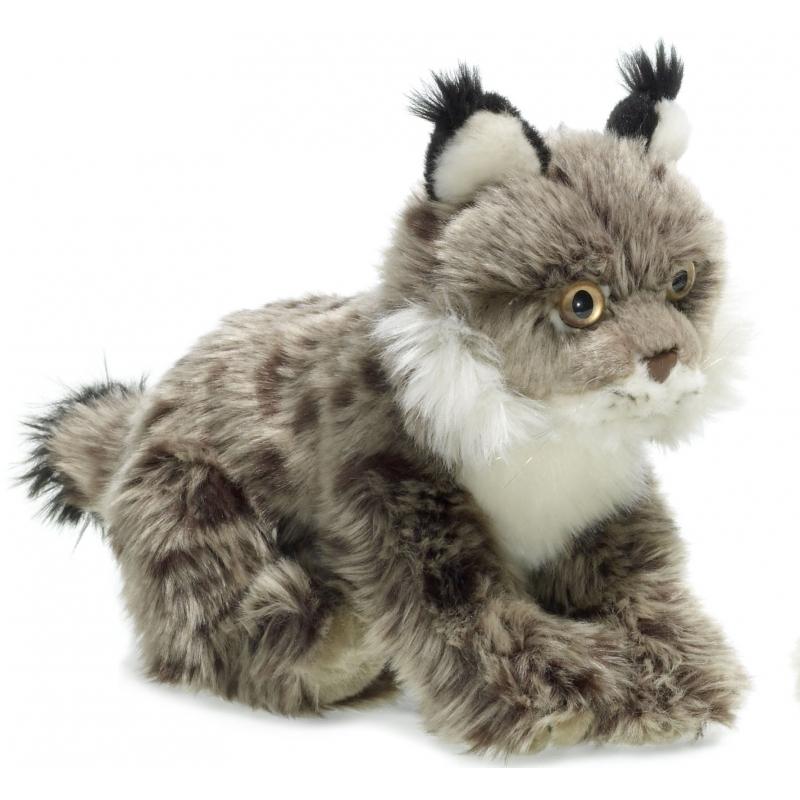 Liggend knuffeldier Lynx 23 cm