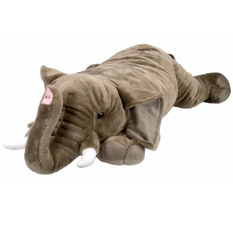Liggende olifant knuffel 76 cm