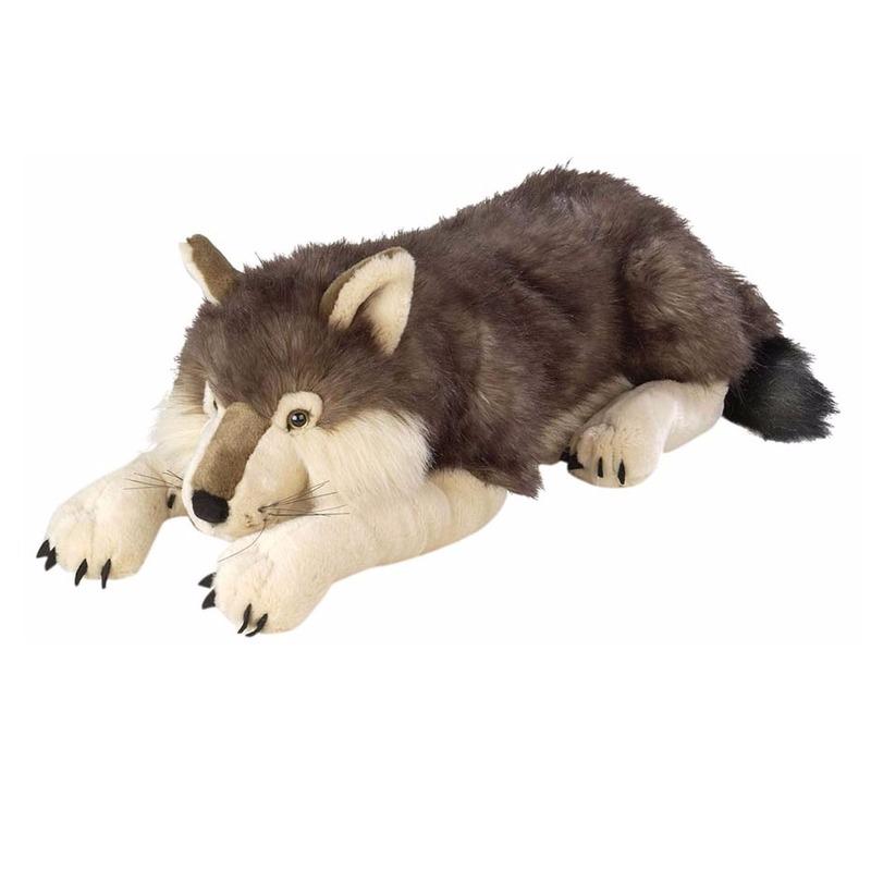 Mega knuffels wolf 76 cm