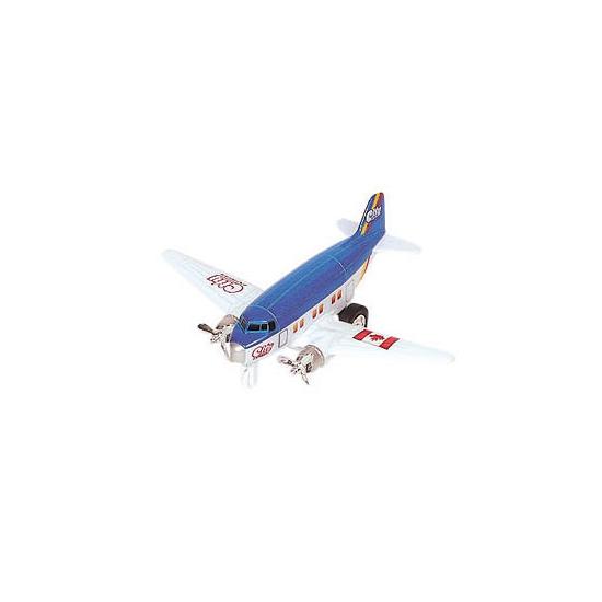 Speelgoedvoertuigen Geen Metalen dubbele propeller blauw model vliegtuig 12 cm