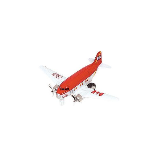 Metalen dubbele propeller rood model vliegtuig 12 cm Geen Speelgoedvoertuigen
