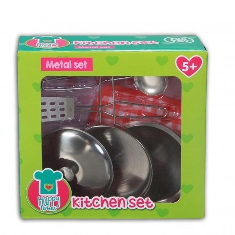 Metalen speelgoed pannen setje Geen Beste kwaliteit