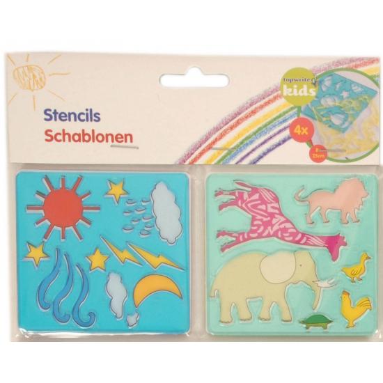Geen Mini tekensjablonen 4 stuks Creatief speelgoed