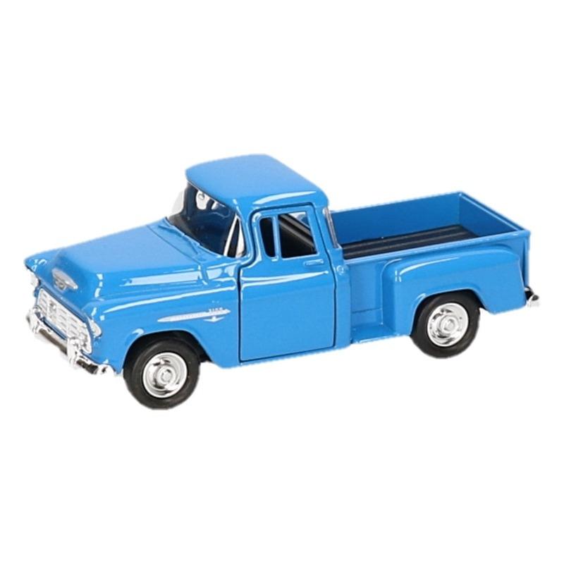 Speelgoedvoertuigen Modelauto Chevrolet 1955 Stepside blauw 1 34
