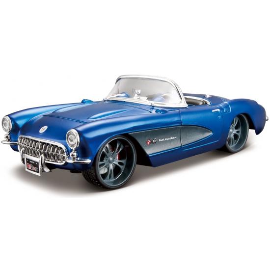 Speelgoedvoertuigen Maisto Modelauto Chevrolet Corvette cabrio 1957 1 24