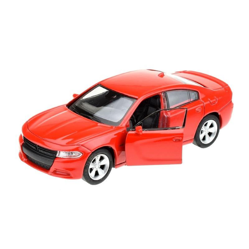 Speelgoedvoertuigen Welly Modelauto Dodge Charger 2016 rood 1 34