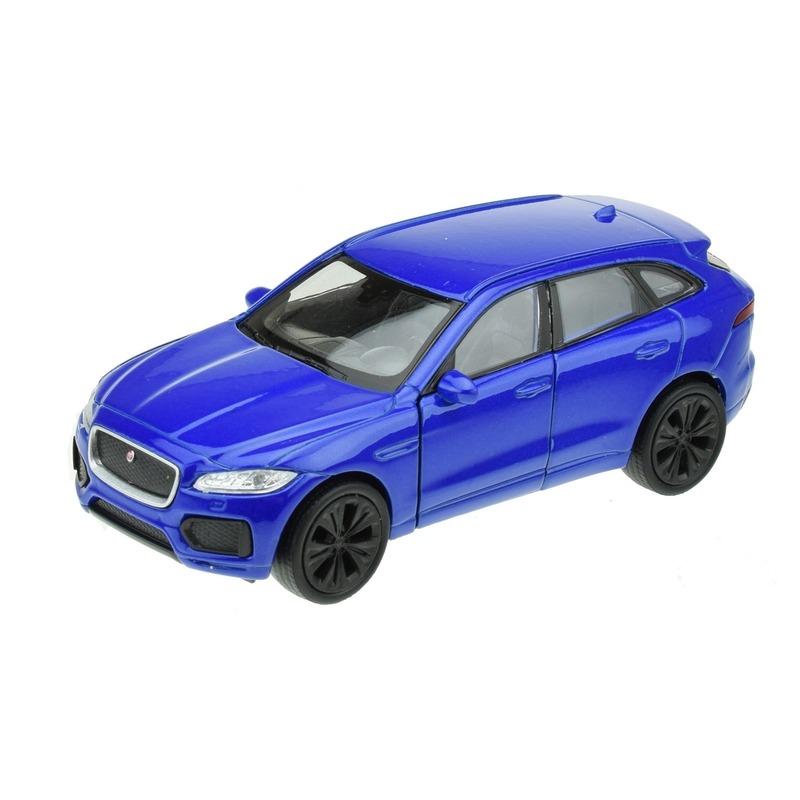 Modelauto Jaguar F pace blauw 1 34 Welly Speelgoedvoertuigen