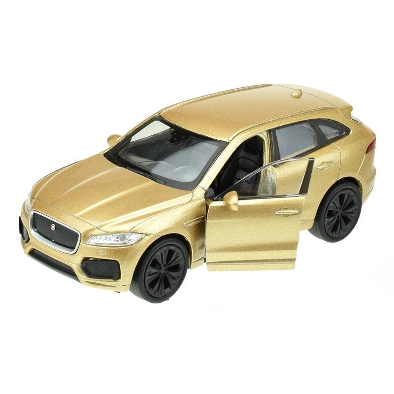 Speelgoedvoertuigen Welly Modelauto Jaguar F pace goudkleurig 1 34