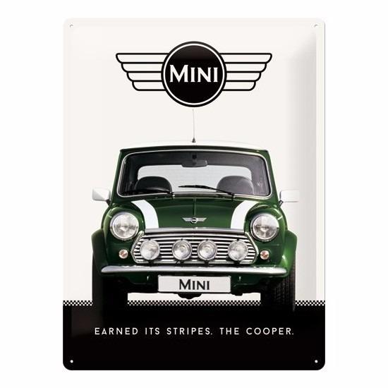 Feestartikelen diversen Mini Cooper Muurplaatje Mini Cooper