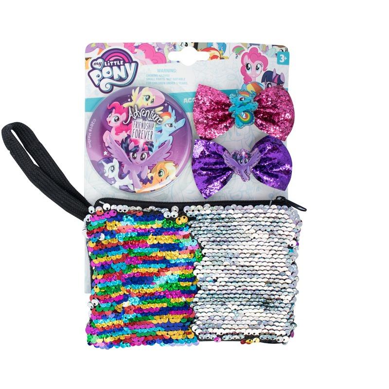 My Little Pony My Little Pony toilettas set met 2 haarclips en 1 spiegel Kleding accessoires