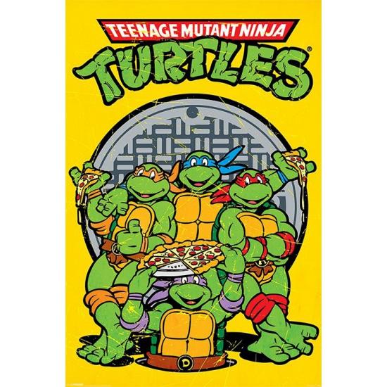 Woonaccessoires Ninja Turtles Ninja Turtles poster 61 x 91,5 cm