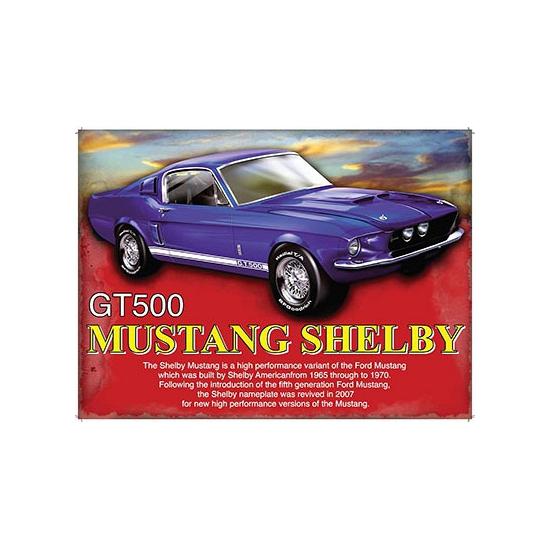 Feestartikelen diversen Geen Nostalgische platen Shelby GT500