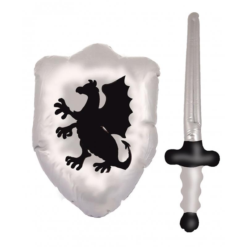 Opblaasbare decoratie Geen Opblaasbaar schild met zwaard